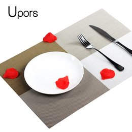 Wholesale Slip Resistant Table Cloth - 4Pcs set Home Table Decoration Accessories Heat-insulated Tableware PVC Coasters Waterproof Table Cloth Pad Slip-Resistant Pad