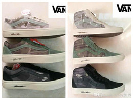 Wholesale military denim - New 2018 VANS Sneakers Syndicate Old Skool Defcon CS Men Women Casual Shoe Military Nuclear War Crisis Camo Canvas Skateboarding Shoes 36-44