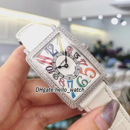 Wholesale womens diamond dress watch - FM Ladies Collection Long Island 1200 CH COL Swiss Quartz White Dial Womens Watch Diamond Bezel Gray Leather Strap Fashion Lady New Watches
