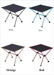 Aluminium-tisch tisch online-Outdoor BBQ Picknick Tisch tragbaren Klapptisch Oxford Tuch Luftfahrt Aluminium Camping Tabelle Großhandel 4 Farben