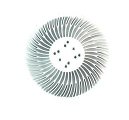 Wholesale Led Aluminum Heatsink - 2PCS 3 5 10W high power sunflower circular cooling fin LED aluminium radiator 90*25.4mm with screw for 1-10 w led cool