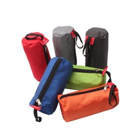 Wholesale towels packaging - Multi Function Storage Bag For Cosmetics Towel Flashlight Color Mix Cylindrical Shape Washing Bags Convenient Outdoors Packages 2 9hs X