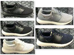 26c19a8d44ff2 Adidas Ultra Boost 4.0 UB 4.0 Popcorn Enfants Ultra 4.0 3.0 Chaussures de  course Noir Blanc CNY Primeknit garçons filles Runner ultraboost entraîneur  ...