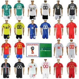Wholesale customs children - Men Youth Kids Football Kits Set Soccer Jerseys With Shorts Pant World Cup 2018 Germany Colombia Spain Portugal Child Man Custom Name Number