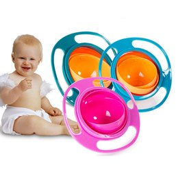 toddler learn Coupons - creative Non Spil Feeding Toddler Gyro Bowl 360 Rotating infant Feeding Learning Dishes baby Eating Training Bowl