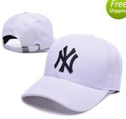 Wholesale New Ny Caps - 2018 New Baseball Caps NY Embroidery Letter Sun Hats Adjustable Snapback Hip Hop Dance Hats Summer Outdoor Men Women White Black Visor bone