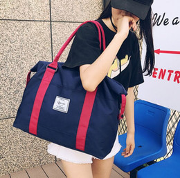 Wholesale large duffels for women travel - Shoulder bag female outdoor travel bag large capacity casual luggage backpack Oxford cloth mobile handbag for womens