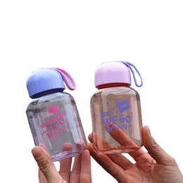 Wholesale Small Plastic Bottles Lids - 300ml Small Cute Diminutive Compact Transparent Mini Plastic Water Bottle Portable Colorful Gift For Child School Outdoor Kettle