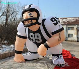 3-метровый игрок онлайн-Игрок американского футбола рекламы 3m надутый изготовленный на заказ раздувной игрок рэгби инфляции футболиста