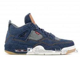 Wholesale colour jeans - New 2018 All 4s Jeans Men Basketball Shoes Sneakers Free Shipping Colour black Women Sport Size 36-47 Shoes Best