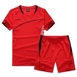 1635d1d3ce 2 Peças Conjuntos de Corrida Dos Homens Crianças Sportswear Roupas de Manga  Curta de Fitness Tênis de Basquete Tênis De Futebol Ginásio de Esportes  Ternos ...