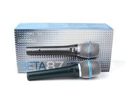 Wholesale girls performance - Beta 87A Supercardiod Condenser Vocal Microphone Legendary Performance 87 A Professional Handheld Wired Mic Portable Karaoke 50pcs Girls