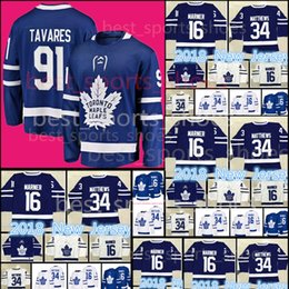 Wholesale m leaf - New 91 John Tavares Jerseys Toronto Maple Leafs #16 Mitch Marner 34 Auston Matthews stitched Hockey Jerseys Cheap sales
