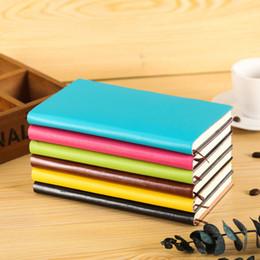 Cuenta de la cubierta online-Cubierta de color caramelo cubierta de la cuenta de viaje de la mano de la escuela de suministros de oficina de cuero de bricolaje organizador organizador cuadernos