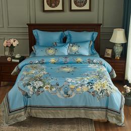 simple coton égyptien literie king size drap de lit bleu adulte housse de couette ensemble décor à la maison 100 s couvre-lit reine textile à la maison ? partir de fabricateur
