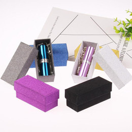 Wholesale Essential Oil Packaging Boxes - Glitter Colorful Cardboard Box Lipstick Cosmetic Perfume Bottle Packing Box Essential Oil Sample Packaging Box QW6998