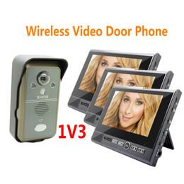 2018 surveillance vidéo audio KDB702 1v3 interphone vidéo sans fil systerm 7 pouces moniteur smart vidéo sonnette porte téléphone avec vision nocturne 2 way audio ann surveillance vidéo audio pas cher