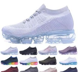Wholesale wholesale white sneakers - Hot Sale Vapormax Running Shoes Men Women Classic Outdoor Run Shoes Vapor Sport Shock Jogging Walking Hiking Sports Athletic Sneakers