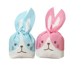 package cookies for cute 2018 - Cute Rabbit Ear Cookie Bags Gift Bag For Candy Biscuits Snack Baking Package Event Party Supplies 50PCS
