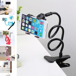 Wholesale Rotating Arm - Universal phone holder 360 Rotating Flexible Long Arm lazy Phone Holder Clamp Lazy Bed Tablet Car Selfie Mount Bracket for Phone