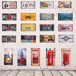 2019 plaques d'immatriculation moto 15x30 cm Vintage Voiture Licence Numéro Plaque Moto USA Route 66 Amérique Fer Affiche Mur Autocollant Garage Mur Décor plaques d'immatriculation moto pas cher