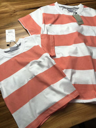 Wholesale mother son sets - Matching Family Clothing Fashion Mother Daughter Clothes Striped T shirt Shorts Family Matching Outfits Father Son Clothes Set