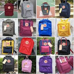Wholesale Fox Backpacks - outdoor sport backpack Classic School Backpack Handbag fox mini rucksacks unisex students bags handbags 25 color KKA4089