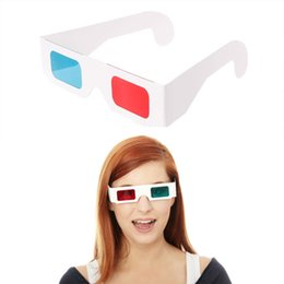 Wholesale 3d Movie Anaglyph - peacefair 10Pcs Universal Paper Frame Red Blue Cyan View Anaglyph 3D Glasses For Movie DVD TV