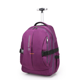 240c22f33221 Men Nylon Trolley Luggage Travel Bags Business Luggage Suitcase on Wheels  Travel Trolley Rolling Bags Women Wheeled Backpacks