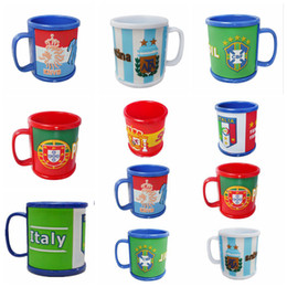 Wholesale national wholesale - Russia World Cup Mugs National Flag Football Cup Water Drinking Coffee Mug Ceramic Tea Milk Cup with Handle Hydration Gear OOA4967