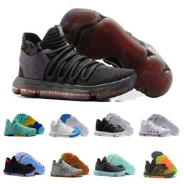 Wholesale kd mens - 2018 Zoom KD X Mens Basketball Shoes EXW Price High Quality and Fast Ship Size 40-46 Outdoor Sneakers Sports Shoes