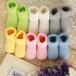 Wholesale Newborn Winter Boots - New 0-2 Year 1 pair Baby Girl Boy Newborn Baby Toddler Winter Warm boots Toddler Infant Soft Socks Booties shoes