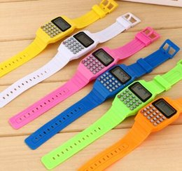 Wholesale Digital Toy Watches - Student Calculator Electronic Watch Child Cartoon Toy Watch Fashion Multifunction Practical Student Counting Tools Classical Mathematics