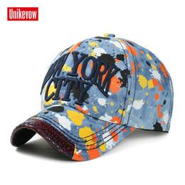 Canada 1 pièce NEW YORK CITY casquette de baseball en denim lavé chapeau avec visière articulée coton encre imprimé chapeau cheap ink city Offre
