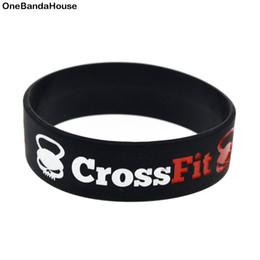 OneBandaHouse 1 PC 3/4 pouce Large Sport Bracelet CrossFit Aucune douleur Aucun gain Motivation Slogan Silicone Bracelet ? partir de fabricateur