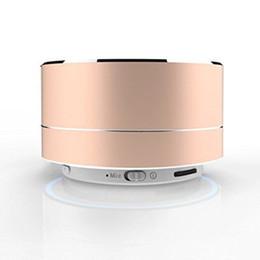 Aluminiumlautsprecher online-NEUER mini tragbarer Bluetooth Lautsprecher TF Einbauschlitz Aluminium drahtloser Stereo Bluetooth Lautsprecher mit Kleinkasten