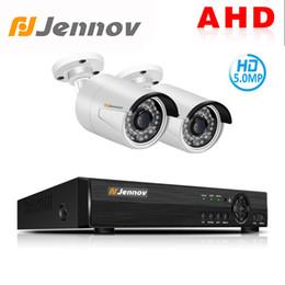 Canada Jennov 4CH 5P AHD Caméra CCTV Set Système de sécurité vidéo Système de surveillance vidéo DVR Kit P2P IP66 Vision nocturne étanche supplier ip66 cameras Offre