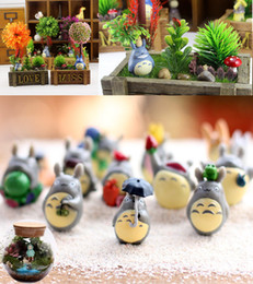 Wholesale japan male toy - 12pcs  Lot Moss Micro Landscape Plastic Doll DIY Assembly Small Ornaments Toys