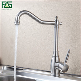 torneira cozinha kitchen Coupons - 304 Stainless Steel Kitchen faucet Mixer Cold Hot Kitchen Tap Single Hole Water Tap Torneira Cozinha 248-33