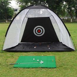 Swing golf online-Práctica portátil de golf Net Prácticas de entrenamiento de golf plegables en el interior Entrenamiento deportivo al aire libre Golpear a Net Swing Trainer Jaula