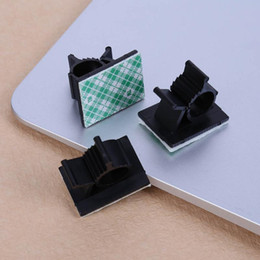 Wholesale Clamp Wall - VODOOL 20pcs lot 3M Adhesive Car Cable Clips Cable Winder Drop Wire Tie Fixer Holder Organizer Management Desk Wall Cord Clamps