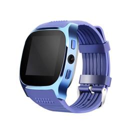 Gsm сотовые телефоны сим-карты онлайн-Для Android новый Bluetooth Smart шагомер Watche поддержка SIM-карты TF с камерой GSM мобильный телефон синхронизация вызова сообщение Мужчины Женщины Smartwatch часы