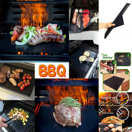 cleaning mats Coupons - Non-Stick BBQ Grill Mat Thick Durable 33*40CM Gas Grill barbecue mat Reusable No Stick BBQ Grill Mat Sheet Picnic Cooking