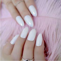 Miroir Caméléon Style Faux Ongles Point Brillant Blanc En Plastique Lady Bout D'ongles 24pcs Clous ? partir de fabricateur