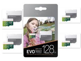 Memória micro câmera sd on-line-TOP Micro SD Cartão de Memória 64 GB 32 GB EVO Selecione 100 MB / s Classe 10 para Smartphones Câmera Galaxy Note 7 8 S7 S8