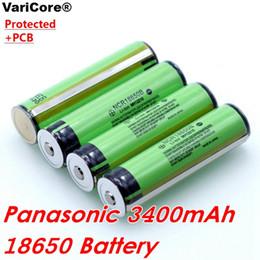батарея для электронной книги Скидка Panasonic 18650 3.7 В 3400 мАч NCR18650B литиевая батарея с защитной платой для паров Ecig и мощного фонарика