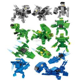 2019 brinquedos do homem-aranha azul Brinquedos do bloco de construção do dinossauro Surprise Torção Ovos 3 em 1 figuras de dinossauro lutador bloco de construção Define Crianças toy Bricks