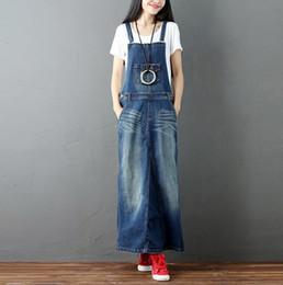 2018 primavera Vintage Jeans Dress Donna lavato lungo prendisole in denim  Retro femminile Autunno Casual Abiti Femininos w793 jeans vintage vestito  offerte 535df01ca6e