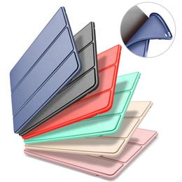 Canada Pour iPad Mini 4 3 2 Coque Cuir PU Silicone Doux Dosseret Dos Stand / Réveil Smart Cover Pour iPad Air supplier ipad mini smart cover back case Offre