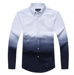 Wholesale White Shirts Small Collar - Men's white long-sleeve POLO shirt Autumn spring Dress shirt men's casual POLO small horse shirts social shirt business long sleeve D30